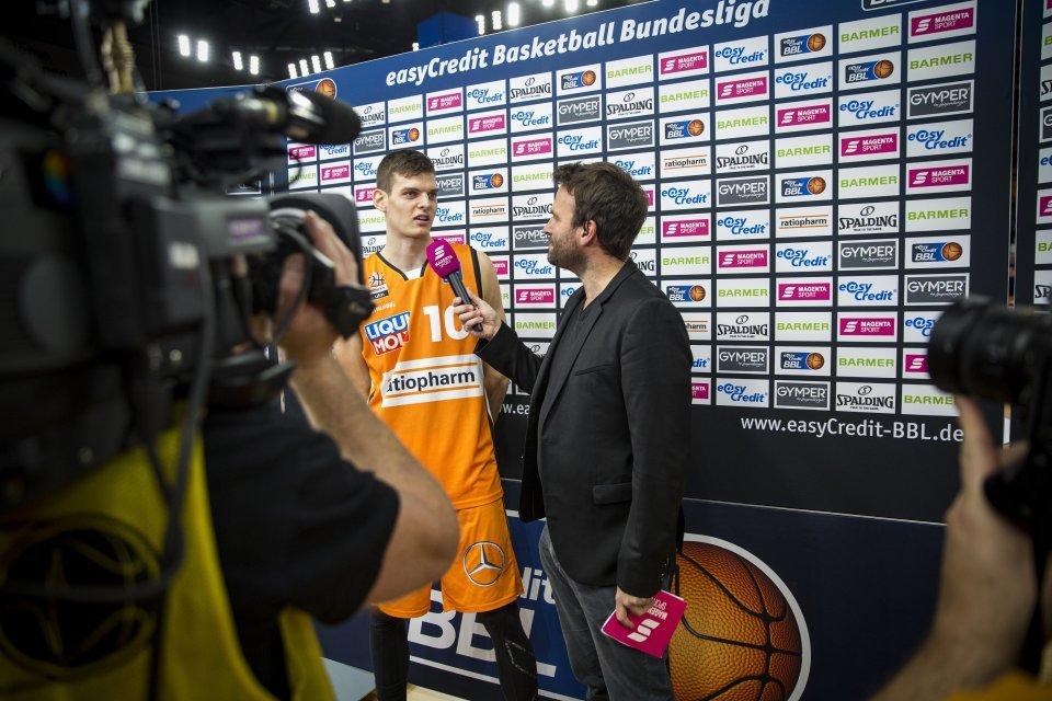 Christoph Philipps bei seinem ersten MagentaSport-Interview. Foto: Marcel Merli