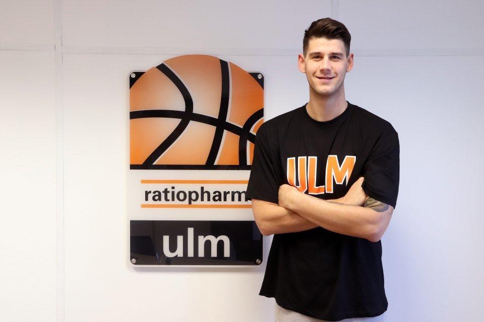 Bogdan Radosavljevic nach seiner Ankunft in Ulm. Foto: Florian Eisebitt