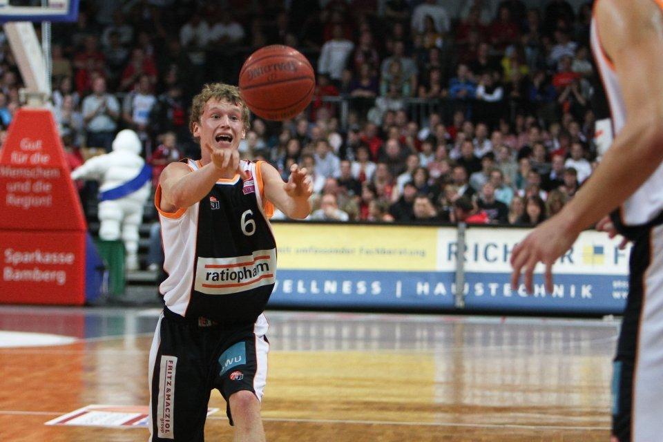 Per Günther bei seinem ersten BBL-Spiel in Bamberg. Foto: Thilo Hensel
