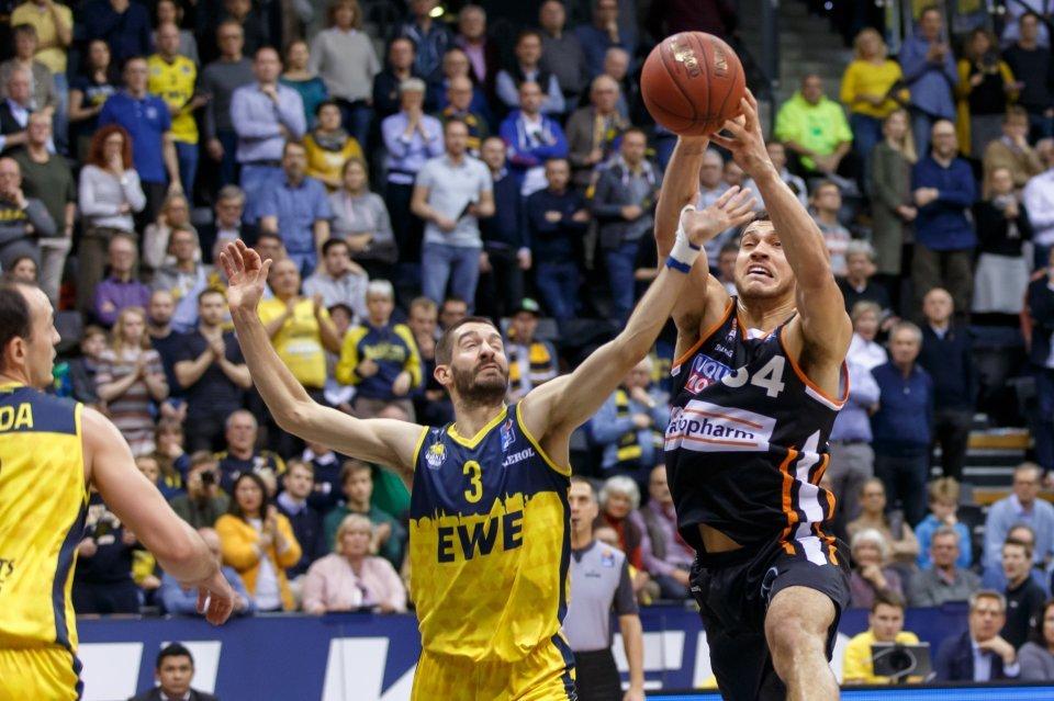 Gavin Schilling gelangen in Oldenburg 6 Punkte.  Foto: Andreas Burmann